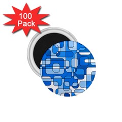 Blue Decorative Abstraction 1 75  Magnets (100 Pack)  by Valentinaart