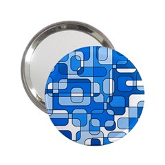 Blue Decorative Abstraction 2 25  Handbag Mirrors by Valentinaart