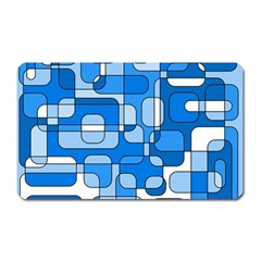 Blue Decorative Abstraction Magnet (rectangular) by Valentinaart