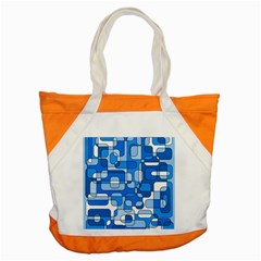 Blue Decorative Abstraction Accent Tote Bag by Valentinaart