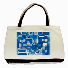 Blue Decorative Abstraction Basic Tote Bag (two Sides) by Valentinaart