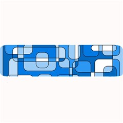 Blue Decorative Abstraction Large Bar Mats