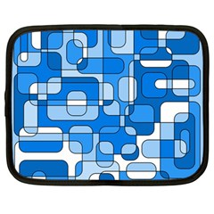 Blue Decorative Abstraction Netbook Case (large) by Valentinaart