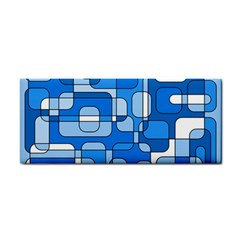 Blue Decorative Abstraction Hand Towel by Valentinaart