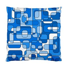 Blue Decorative Abstraction Standard Cushion Case (one Side) by Valentinaart