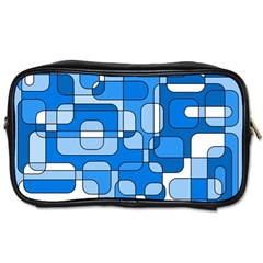 Blue Decorative Abstraction Toiletries Bags 2 Side by Valentinaart