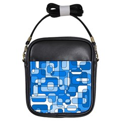 Blue Decorative Abstraction Girls Sling Bags by Valentinaart