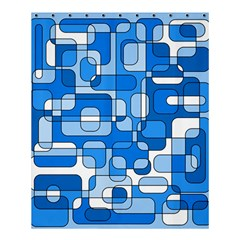 Blue Decorative Abstraction Shower Curtain 60  X 72  (medium)  by Valentinaart