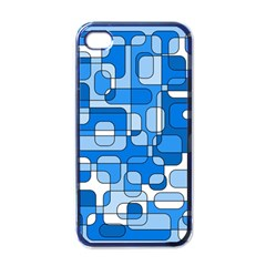Blue Decorative Abstraction Apple Iphone 4 Case (black) by Valentinaart