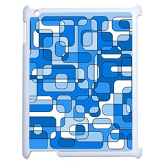Blue Decorative Abstraction Apple Ipad 2 Case (white) by Valentinaart