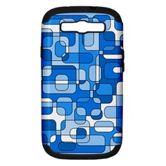 Blue Decorative Abstraction Samsung Galaxy S Iii Hardshell Case (pc+silicone) by Valentinaart