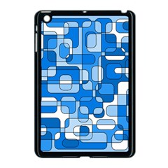 Blue Decorative Abstraction Apple Ipad Mini Case (black) by Valentinaart
