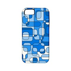 Blue Decorative Abstraction Apple Iphone 5 Classic Hardshell Case (pc+silicone) by Valentinaart