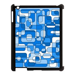 Blue Decorative Abstraction Apple Ipad 3/4 Case (black) by Valentinaart
