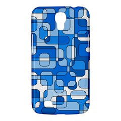 Blue Decorative Abstraction Samsung Galaxy Mega 6 3  I9200 Hardshell Case by Valentinaart
