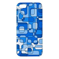 Blue Decorative Abstraction Iphone 5s/ Se Premium Hardshell Case by Valentinaart