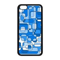 Blue Decorative Abstraction Apple Iphone 5c Seamless Case (black) by Valentinaart