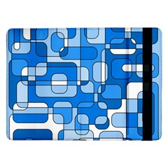 Blue Decorative Abstraction Samsung Galaxy Tab Pro 12 2  Flip Case by Valentinaart