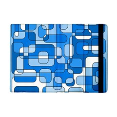 Blue Decorative Abstraction Ipad Mini 2 Flip Cases by Valentinaart