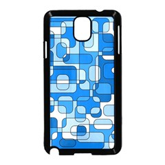 Blue Decorative Abstraction Samsung Galaxy Note 3 Neo Hardshell Case (black) by Valentinaart
