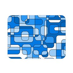 Blue Decorative Abstraction Double Sided Flano Blanket (mini)  by Valentinaart