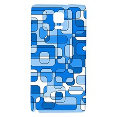 Blue Decorative Abstraction Galaxy Note 4 Back Case by Valentinaart