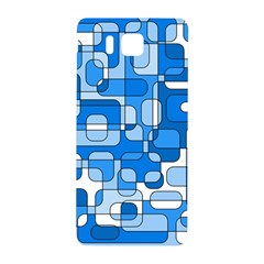 Blue Decorative Abstraction Samsung Galaxy Alpha Hardshell Back Case by Valentinaart