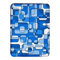 Blue Decorative Abstraction Samsung Galaxy Tab 4 (10 1 ) Hardshell Case  by Valentinaart