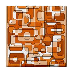 Orange Decorative Abstraction Tile Coasters by Valentinaart