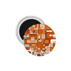 Orange Decorative Abstraction 1 75  Magnets by Valentinaart