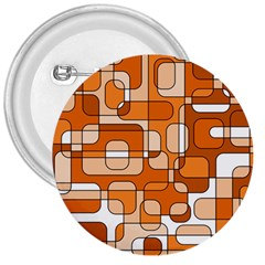Orange Decorative Abstraction 3  Buttons by Valentinaart