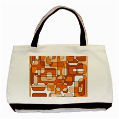 Orange Decorative Abstraction Basic Tote Bag by Valentinaart