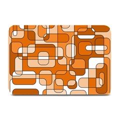 Orange Decorative Abstraction Plate Mats by Valentinaart