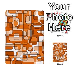 Orange Decorative Abstraction Multi Purpose Cards (rectangle)  by Valentinaart