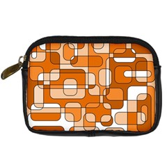 Orange Decorative Abstraction Digital Camera Cases by Valentinaart
