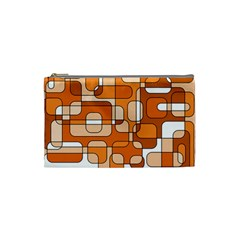 Orange Decorative Abstraction Cosmetic Bag (small)  by Valentinaart
