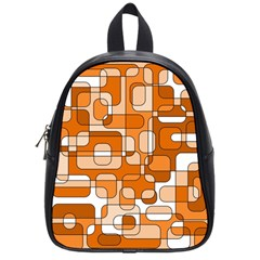 Orange Decorative Abstraction School Bags (small)  by Valentinaart