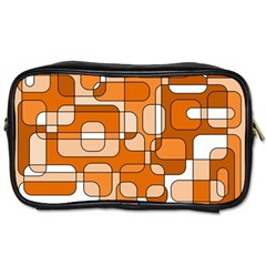 Orange Decorative Abstraction Toiletries Bags 2 Side by Valentinaart