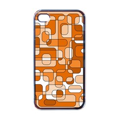 Orange Decorative Abstraction Apple Iphone 4 Case (black) by Valentinaart