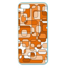 Orange Decorative Abstraction Apple Seamless Iphone 5 Case (color) by Valentinaart