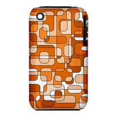 Orange Decorative Abstraction Apple Iphone 3g/3gs Hardshell Case (pc+silicone) by Valentinaart