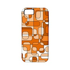 Orange Decorative Abstraction Apple Iphone 5 Classic Hardshell Case (pc+silicone) by Valentinaart