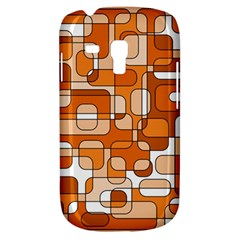 Orange Decorative Abstraction Samsung Galaxy S3 Mini I8190 Hardshell Case by Valentinaart