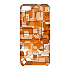 Orange Decorative Abstraction Apple Ipod Touch 5 Hardshell Case With Stand by Valentinaart