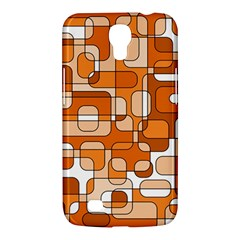 Orange Decorative Abstraction Samsung Galaxy Mega 6 3  I9200 Hardshell Case by Valentinaart