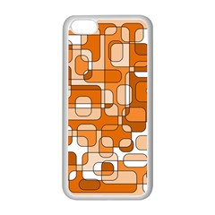 Orange Decorative Abstraction Apple Iphone 5c Seamless Case (white) by Valentinaart