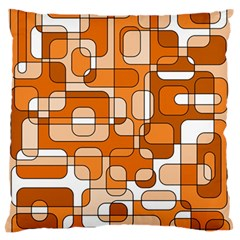 Orange Decorative Abstraction Large Flano Cushion Case (two Sides) by Valentinaart