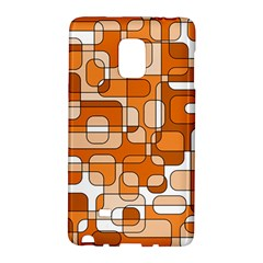 Orange Decorative Abstraction Galaxy Note Edge by Valentinaart