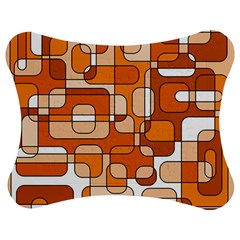 Orange Decorative Abstraction Jigsaw Puzzle Photo Stand (bow) by Valentinaart