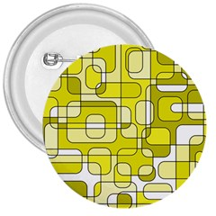 Yellow Decorative Abstraction 3  Buttons by Valentinaart